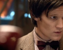 The Doctor, looking sheepish at a dodgy joke